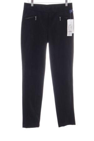 Robell Pantalón de cuero negro elegante