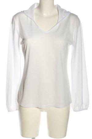 Robenton Camicia con cappuccio bianco stile casual