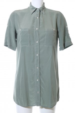 Robert Friedman Kurzarm-Bluse khaki Business-Look