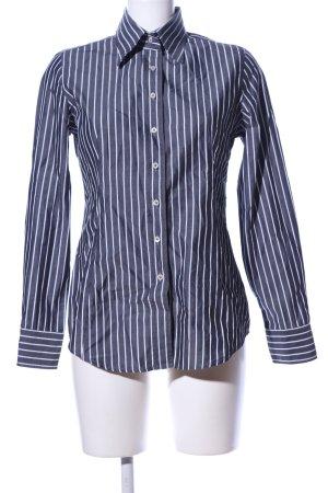 Robert Friedman Langarmhemd schwarz-weiß Streifenmuster Casual-Look