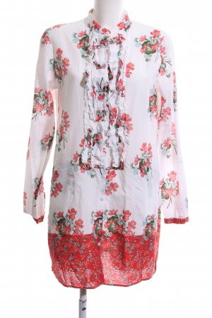 Robert Friedman Long-Bluse Blumenmuster Casual-Look