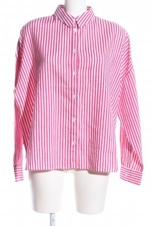 Robert Friedman Oversized Bluse pink-weiß Allover-Druck Casual-Look