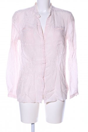 Robert Friedman Schlupf-Bluse weiß-pink Allover-Druck Business-Look