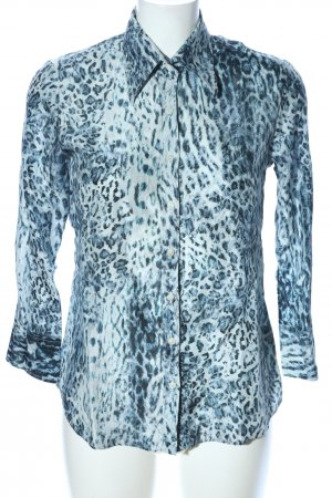 Robert Friedman Seidenbluse blau Allover-Druck Casual-Look