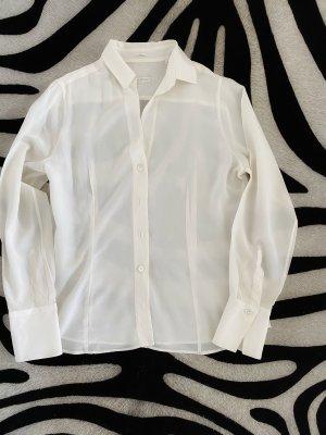 Robert Friedman Blusa de seda blanco-blanco puro