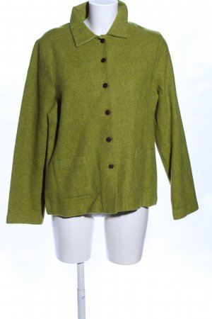 Robert Friedmann Wolljacke grün meliert Casual-Look