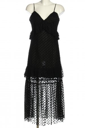 Robert Rodriguez Spitzenkleid schwarz Elegant