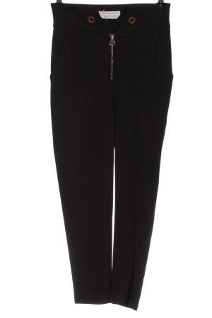 Roberta Biagi Pantalon taille haute noir style décontracté