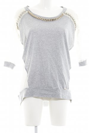 Roberta Biagi Langarm-Bluse mehrfarbig Logo-Applikation aus Metall