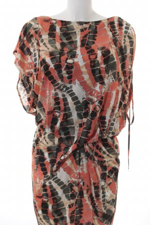 Roberta Scarpa Kurzarmkleid abstraktes Muster Casual-Look