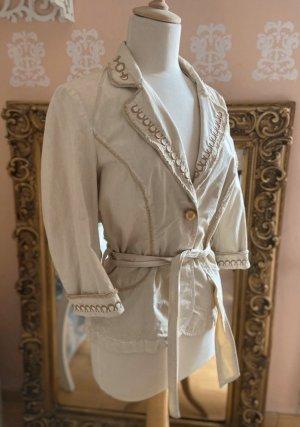Roberta Scarppa 38 M Blazer Jacke Bluse Hemd Gold