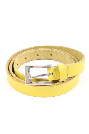 Roberto Bellido Cintura di pelle giallo pallido stile casual