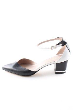 Roberto Botella Riemchen-Sandaletten schwarz-weiß Casual-Look