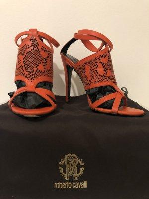 Roberto Cavalli Strapped Sandals multicolored leather