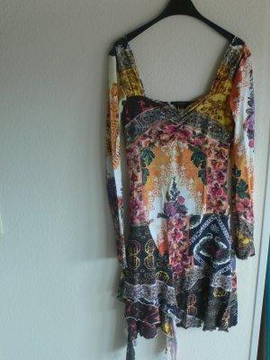 Roberto Cavalli Flounce Dress multicolored