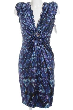 Roberto Cavalli A-Linien Kleid Herzmuster Elegant