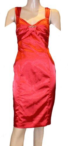 ROBERTO CAVALLI Abendkleid Kleid rot Gr. 34 Stretch neu 950.-