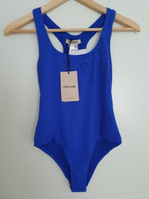 Roberto Cavalli Swimsuit blue-gold-colored
