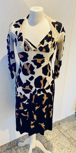 Cavalli Midi-jurk zwart-bruin