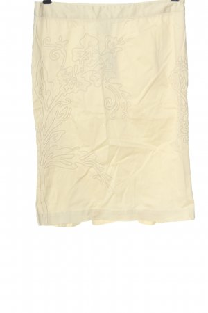 Roberto Cavalli Pencil Skirt cream allover print casual look
