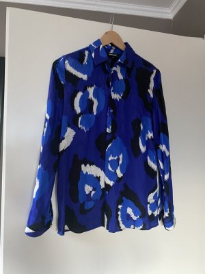 Roberto Cavalli Bluse hemd 38 M blau schwarz