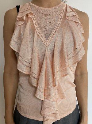 Roberto Cavalli Short Sleeved Blouse pink-rose-gold-coloured