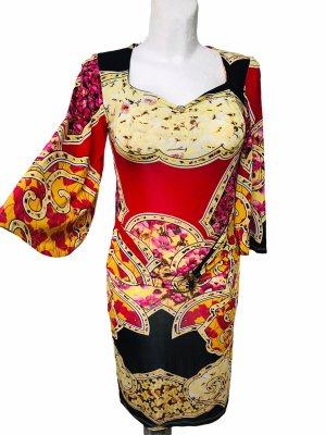 Roberto Cavalli Damen Kleid Rot Bunt M / L