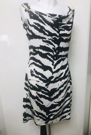 Cavalli A Line Dress white-black