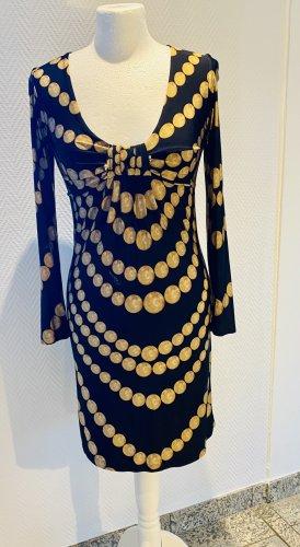 Cavalli Midi-jurk zwart-camel