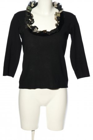 Roberto Cavalli Feinstrickpullover schwarz Casual-Look