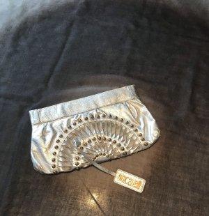 Roberto Cavalli Borsa clutch argento-oro
