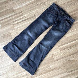 Just cavalli Jeansy o kroju boot cut szary niebieski-ciemnoniebieski Bawełna