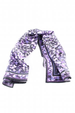 Roberto Cavalli Neckerchief black-lilac abstract pattern casual look