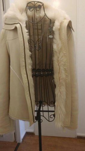 Roberto Cavalli Leather Jacket cream