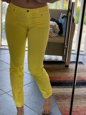 Roberto Cavalli Jeansy ze stretchu żółty