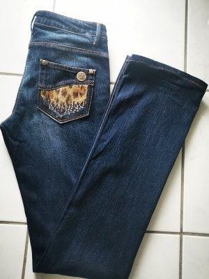 Roberto Cavalli Jeans a gamba dritta blu-blu scuro