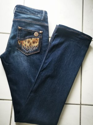 Roberto Cavalli Jeans coupe-droite bleu-bleu foncé