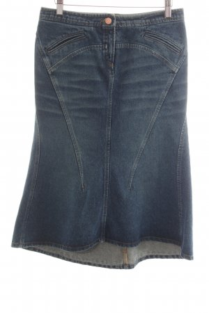Roberto Cavalli Gonna di jeans blu Colore sfumato elegante