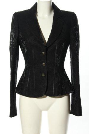 Roberto Cavalli Korte blazer zwart volledige print elegant