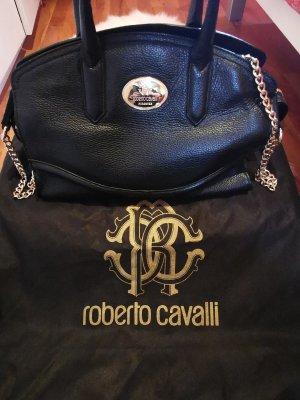 Roberto Cavalli Borsa con manico nero Pelle