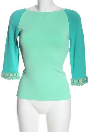Roberto Cavalli Longsleeve turquoise casual look