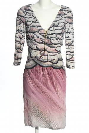 Roberto Cavalli Midikleid abstraktes Muster Elegant