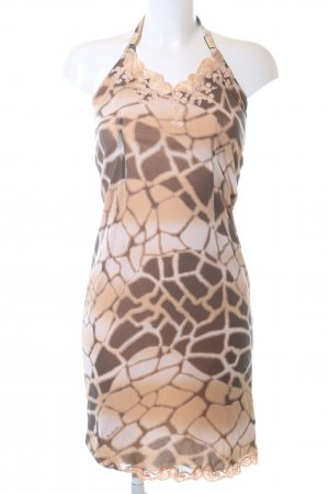 Roberto Cavalli Halter Dress cream-bronze-colored allover print casual look