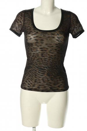 Roberto Cavalli Mesh Shirt brown-black elegant
