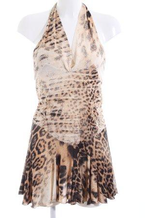 Roberto Cavalli One-Shoulder-Kleid Leomuster extravaganter Stil