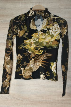 Roberto Cavalli  Prestige Elegant Bluse mit goldfarben dekorative Knöpfe gr.S