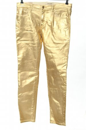 Roberto Cavalli Tube Jeans gold-colored casual look
