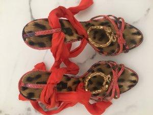 Roberto Cavalli Sandales à lanière rouge clair-saumon