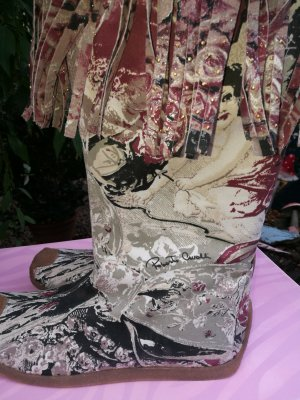 Roberto Cavalli Short Boots multicolored suede