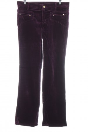 Roberto Cavalli Jersey Pants blackberry-red extravagant style